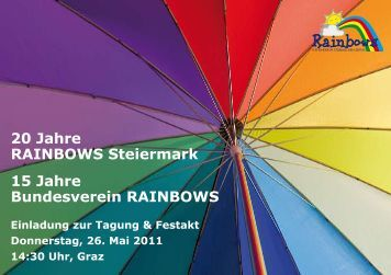 20 Jahre RAINBOWS Steiermark 15 Jahre Bundesverein RAINBOWS