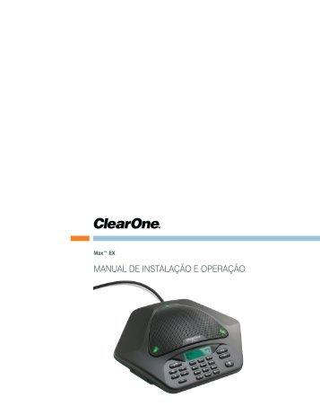 Manual de Instalação e operação - ClearOne