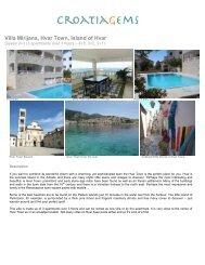Villa Mirijana, Hvar Town, Island of Hvar - CroatiaGems