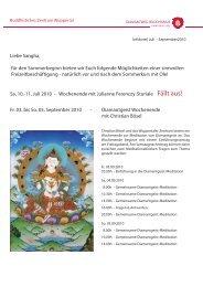 info brief Wuppertal juli-september.indd - Buddhistisches Zentrum ...