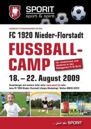 SPORIT_Flyer_FC 1920 - FC 1920 Nieder - Florstadt