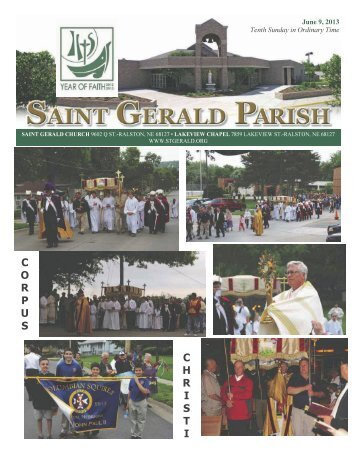 Weekly Bulletin - June 9, 2013 - Saint Gerald Catholic Church