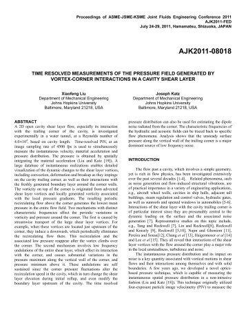 Proceedings of ASME-JSME-KSME Joint Fluids Engineering ...