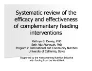 Complementary Feeding: what works? - UNSCN