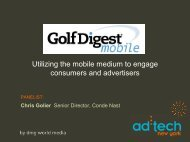 Utilizing the mobile medium to engage consumers and advertisers