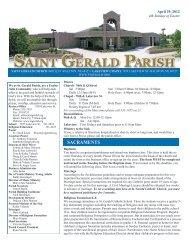 Weekly Bulletin - April 29, 2012 - Saint Gerald Catholic Church