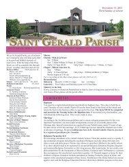 Weekly Bulletin - December 11, 2011 - Saint Gerald Catholic Church