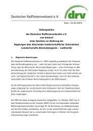 Stellungnahme zum Entwurf des Landwirtschafts-Altschuldengesetzes