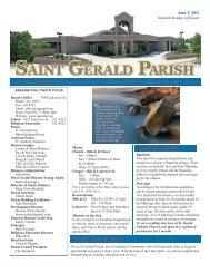 Weekly Bulletin - June 5, 2011 - Saint Gerald Catholic Church