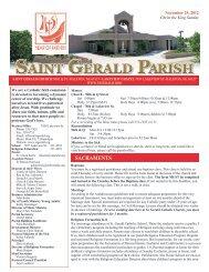 Weekly Bulletin - November 25, 2012 - Saint Gerald Catholic Church