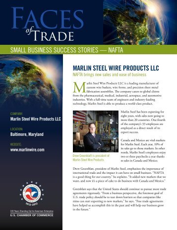Small BuSineSS SucceSS StorieS - US Chamber of Commerce