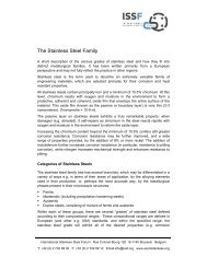 The Stainless Steel Family - International Stainless Steel Forum