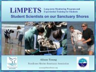 LiMPETS Update - Gulf of the Farallones National Marine Sanctuary