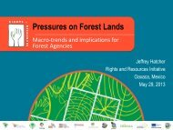 Pressures on Forest Lands - Rights and Resources Initiative
