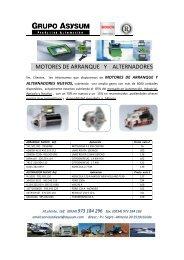 motores de arranque y alternadores - Presentación de Bomba ...