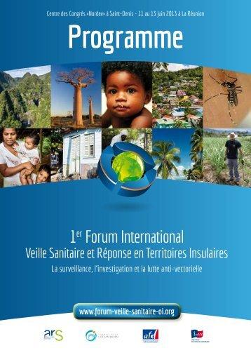 Le programme du forum - ARS Océan Indien