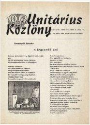 1995 - Magyarországi Unitárius Egyház