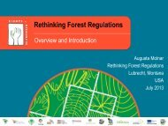 Rethinking Forest Regulations - Rights and Resources Initiative