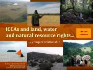 ICCAs and land, water and natural resource rights...