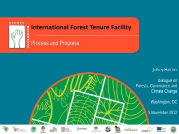 The International Forest Tenure Facility - Rights and Resources ...