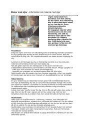 ADI 343 - Risker med oljor - Information om ... - Arbetsmiljöverket