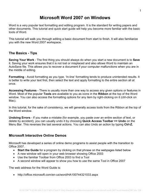 Microsoft Word 2007 on Windows