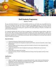 Shell Graduate Programme - Universum Talent Networks