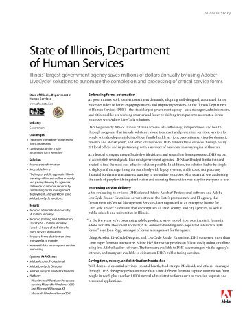 State of Illinois, Department of Human Services