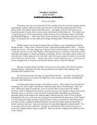 Rabbi Mitchell Wohlberg • May 25, 2013 • Beth Tfiloh Congregation ...