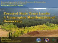 Forested State Trust Lands - Rights and Resources Initiative