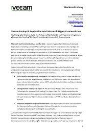 110516 Veeam Backup & Replication kommt für Hyper-V ... - ptext.net