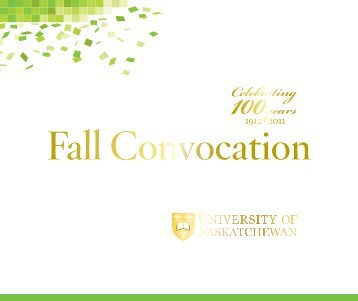Fall 2011 - Students - University of Saskatchewan