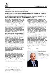 Stadt Zürich April 2010 (PDF, 38 kB) - Amt für Wirtschaft und Arbeit