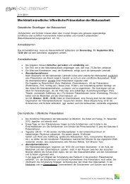 Merkblatt mündliche / öffentliche Präsentation der Maturaarbeit