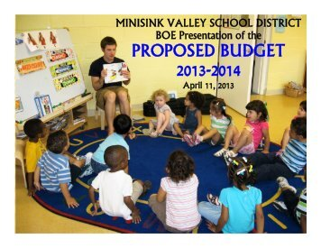 PROPOSED BUDGET 2013-2014 - Minisink Valley Central Schools