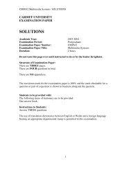 Exam Solutions 2004 - Cardiff University