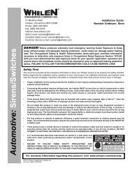 13607: Navistar UnderPro Siren Speaker - Whelen Engineering