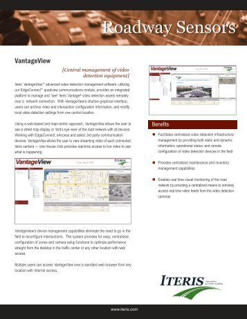 Iteris VantageView - Interprovincial Traffic Services