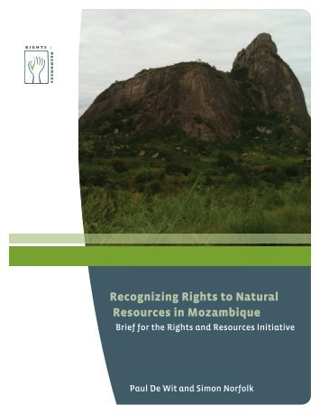 Recognizing Rights to Natural Resources in Mozambique
