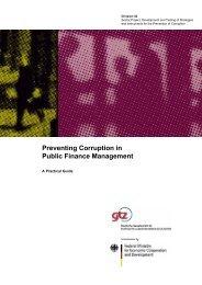 Preventing Corruption in Public Finance Management - World Bank ...
