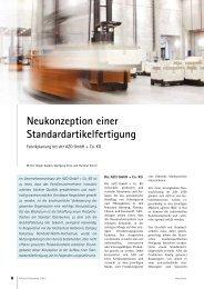 Fabrikplanung bei der AZO GmbH