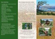 Flyer der Landbauschule - Freie Landbauschule Bodensee