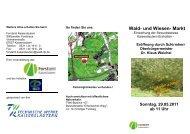 Wald- und Wiesen- Markt - Treffpunkt Wald