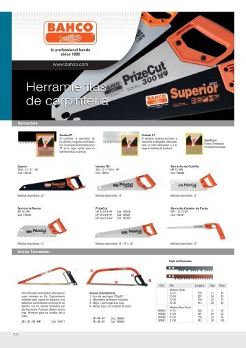 BAHCO herramientas para carpinteria.cdr - Incoresa