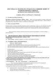specyfikacja techniczna wykonania i odbioru ... - BIP UM Katowice