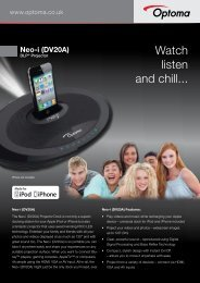Watch listen and chill... - Optoma