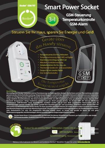 Smart Power Socket - iSocket GSM-Schaltsteckdose