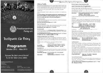 kt für Pßjrg Programm - Familienzentrum Poing