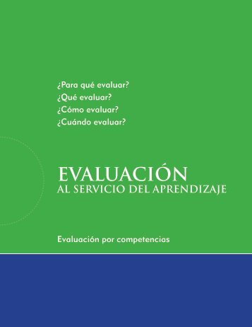 Evaluación al Servicio del Aprendizaje - EQUIP123.net