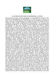 ATA DE REUNIÃO PLENÁRIA EXTRAORDINÁRIA – 12/07/2011 Ata ...